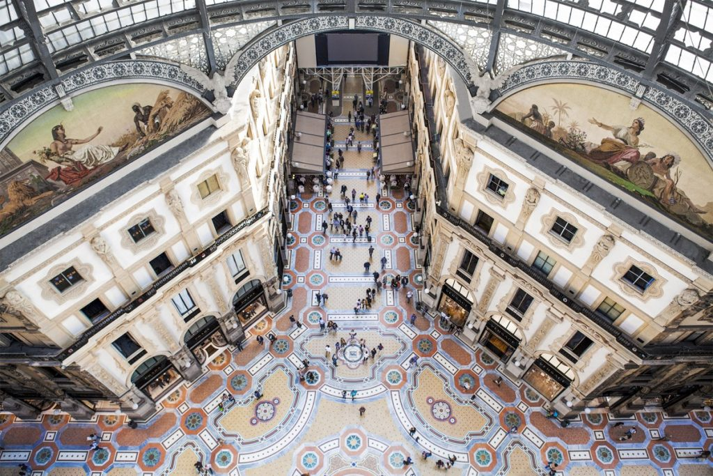 Mame Fashion Dictionary: Galleria Vittorio Emanuele II After Restoration