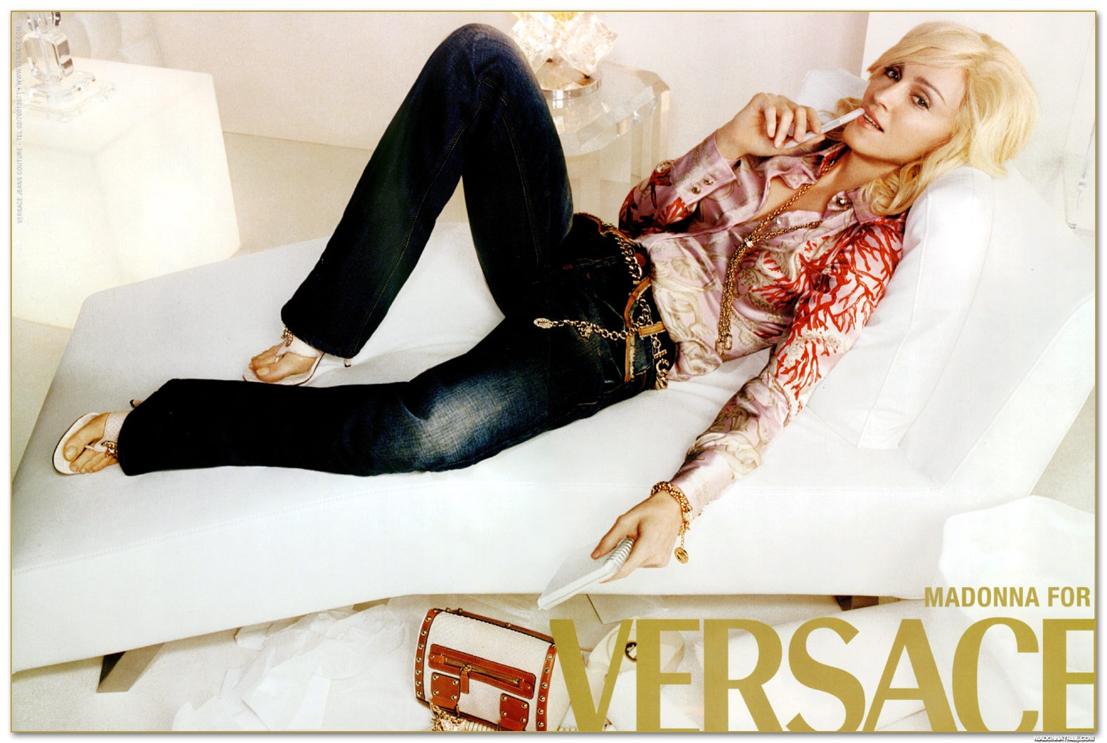 Madonna For Versace Campaign
