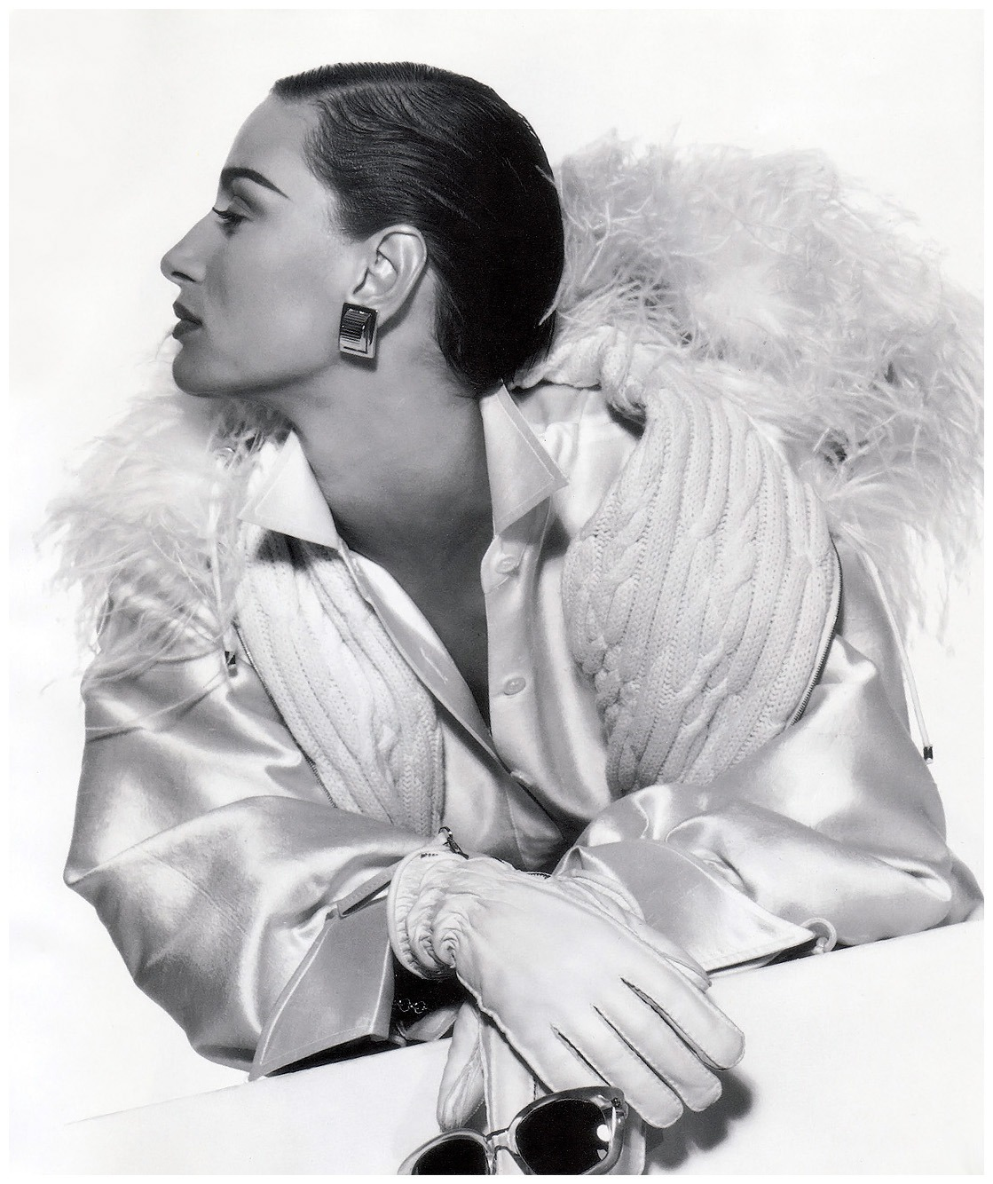 Gianfranco Ferre Vogue Sep 1991 AD Featuring Aly Dunne Photographed by Gianpaolo Barbieri