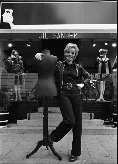 Picture of Jil Sander in front of her Hamburg boutique 1968. Photographed By: Hans Rudolf Uthoff