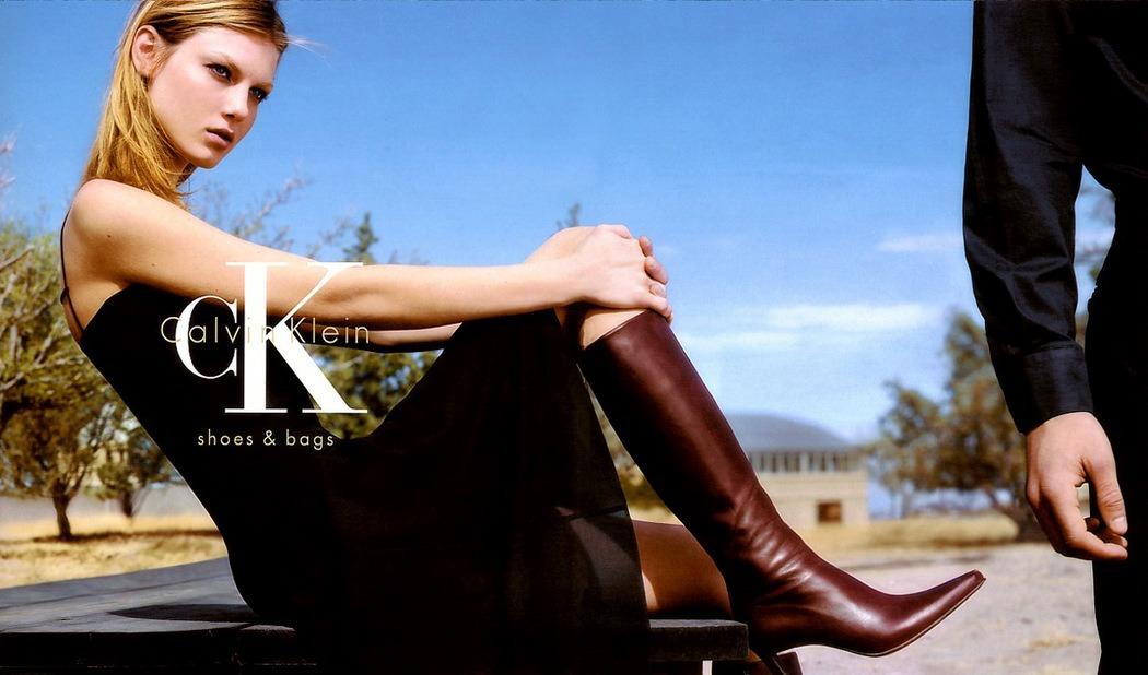 Calvin Klein Shoes Bags Advertising in 2000