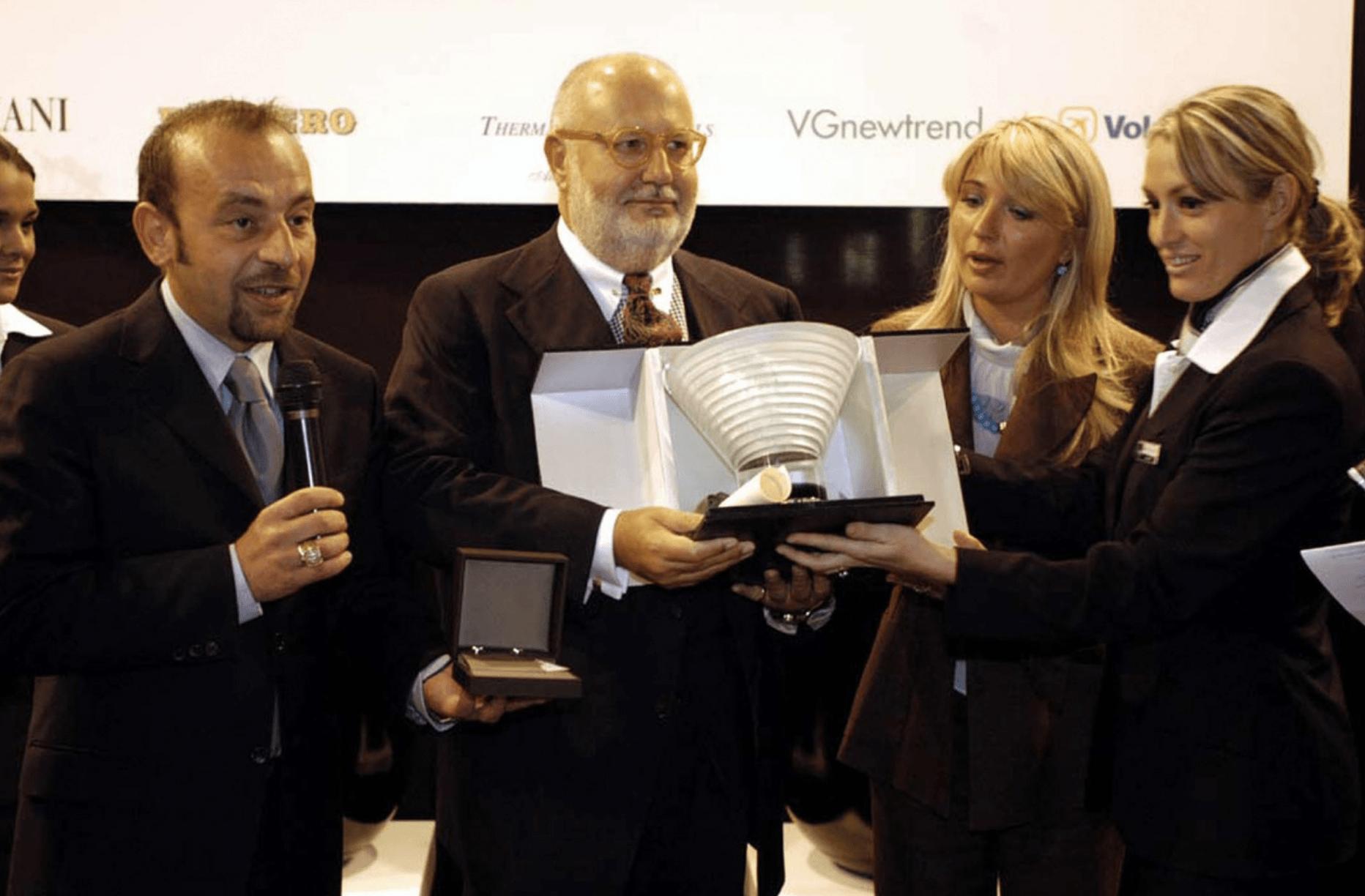 Gianfranco Ferre Receiving Awards 2004