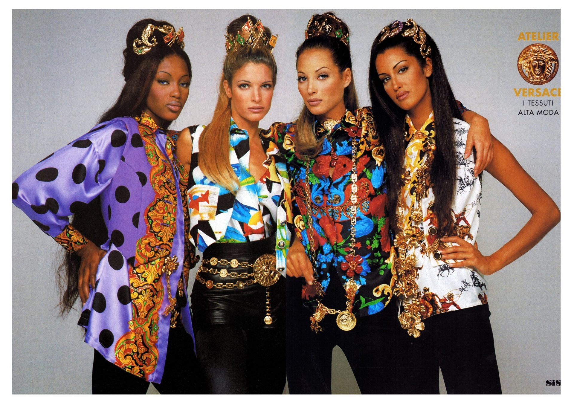 Versace Supermodels in the 1990s